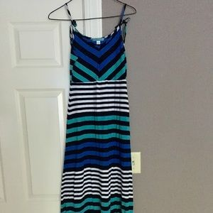 Striped Tie Maxi Dress